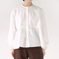 round neck frill blouse (3colors)