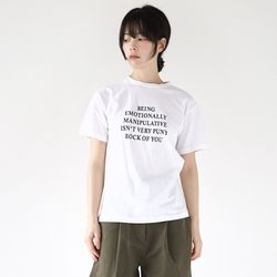 point lettering half tee (ivory)