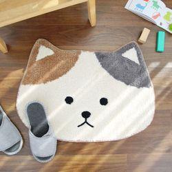 극세사 서울숲 고양이 발매트 아이보리