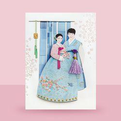 꽃분홍 내님카드 FT226-1