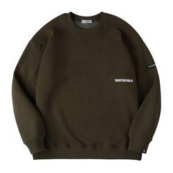 베이직 하프 절개 오버핏 기모 맨투맨 티셔츠 GMT-192