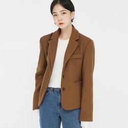 bobbi fit single wool jacket
