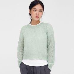 ben round mohair crop knit