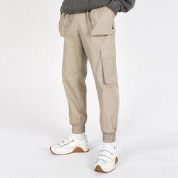 (UNISEX)Mild Eazy Zip-up Cargo-Jogger Pants(BEIGE)