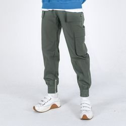(UNISEX)Mild Eazy Zip-up Cargo-Jogger Pants(GREY)