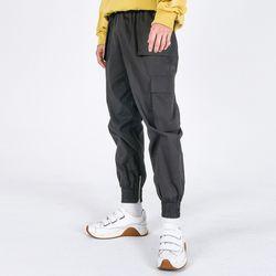 (UNISEX)Mild Eazy Zip-up Cargo-Jogger Pants(CHARCOAL)