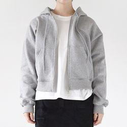 basic hoodie zip-up (3colors)