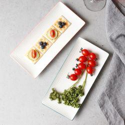 메레신 마인드터치 직사각 접시(대) (4color)