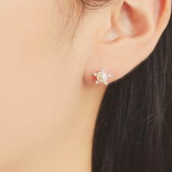별빛처럼 은은한 진주 포인트 귀걸이 OTE119910PPI