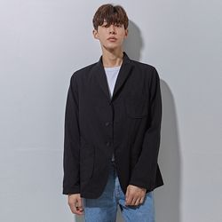 belt wolk cotton jacket black