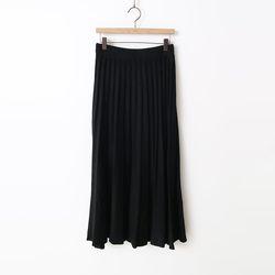 Wool Pleats Long Skirt