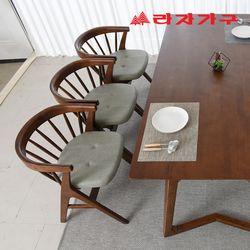미로네 고무나무 원목 식탁 의자