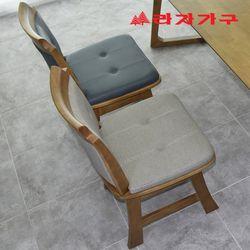 시피 고무나무 원목 식탁 의자