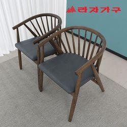 오클 고무나무 원목 식탁 의자