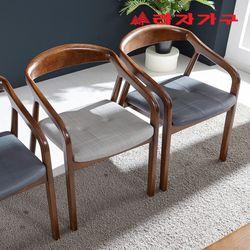 다윈 고무나무 원목 식탁 의자
