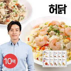 허닭 신상 닭가슴살 곤약 볶음밥 5종 10팩