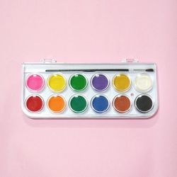 마리돌 컬러링 키우는 석고방향제 전용 - 12색 수채화물감(단품)