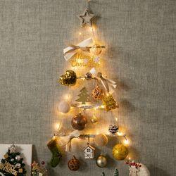 베이직산타 벽걸이 우드트리 60cmP 크리스마스 TRHMES