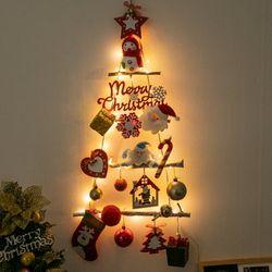 선물산타 벽걸이 우드트리 60cmP 크리스마스 TRHMES