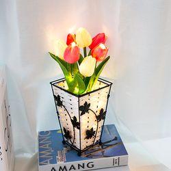 [무료배송] 레토 LED 튤립 무드등 LML-FT01P (핫핑크) 꽃 화분 조명