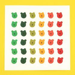 [한톨상점] 가을 반곰이 스티커
