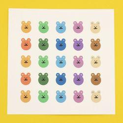 [한톨상점] 귀하트 반곰이 스티커