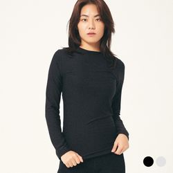 (WOMEN) 히트텍 이너 라운드 티셔츠 2COLOR