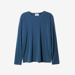 (WOMEN) 베이직 슬렌더 기모 긴팔티셔츠 네이비