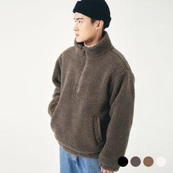 (UNISEX) 오버핏 후리스 아노락 점퍼 4COLOR