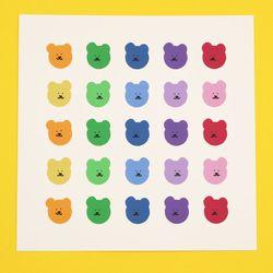 [한톨상점] 파스텔 반곰이 스티커