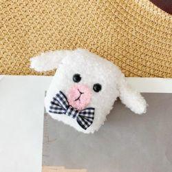 에어팟 귀여운 아기양 털인형 뜨개질케이스 315화이트