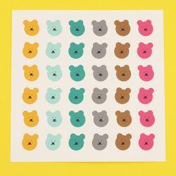 [한톨상점] 썸머스프링 반곰이 스티커