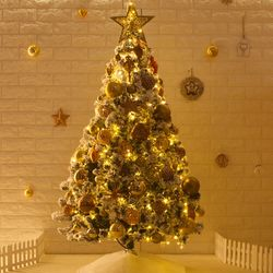 고급 브론즈스노우 150cm 전구 풀세트 크리스마스트리