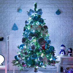 고급 블루웨이브알파인 120cm 풀세트 크리스마스 트리