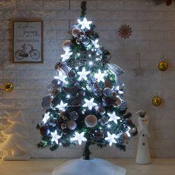 고급 LED라인별PVC 120cm 전구 풀세트 크리스마스트리