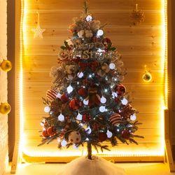 고급 쿠션목화그레이 120cm 풀세트 크리스마스 트리