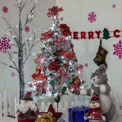 고급 레드지팡이스노우 90cm 풀세트 크리스마스 트리