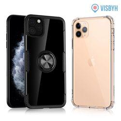 아이폰11 프로 스마트링 스탠드 범퍼케이스 블랙 2개
