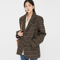 distinct pattern check jacket