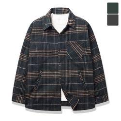 오버핏 포켓 그린 셔츠 코트 CTJ013
