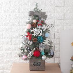 목화파스텔볼그레이 트리 철재화분 75cmP 크리스마스