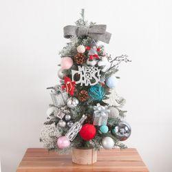 목화파스텔볼그레이 트리 75cmP 크리스마스 TRHMES