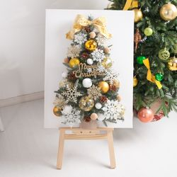 크리스탈설정캔버스 트리 80cmP(이젤포함) 크리스마스
