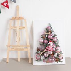 산타곰 캔버스 트리 70cmP(이젤) 크리스마스 미니
