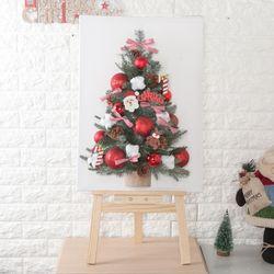 얼굴산타 캔버스 트리 70cmP (이젤) 크리스마스