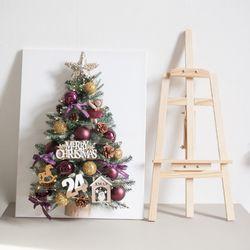 바이올렛천사캔버스 트리 80cmP(이젤) 크리스마스