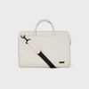 DOUBLE SLIM BRIEFCASE White