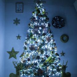 고급 써클스노우 300cm (양면) 풀세트 크리스마스트리