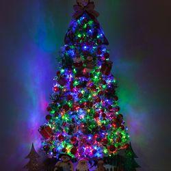 고급 솔방울산타 300cm (양면) 풀세트 크리스마스트리