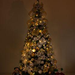 고급 믹스포인꽃 300cm (양면) 풀세트 크리스마스트리